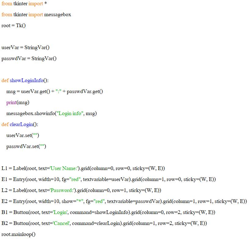 พื้นฐานการใช้โมดูล tkinter สำหรับ Graphical User Interface